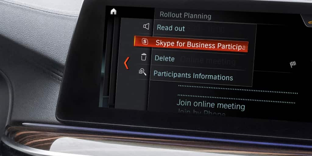 bmw to include skype for business in car via idrive futurevision